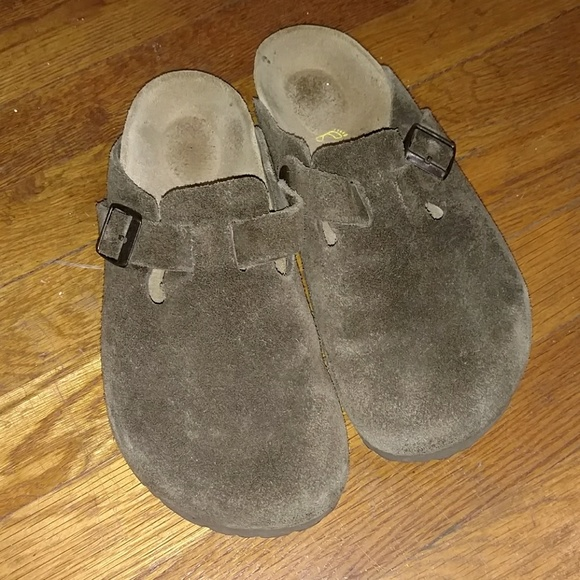 6f7c527428c5 Birkenstock Boston Suede Leather Mocha